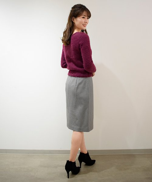 Eimy Peal by POWDER SUGAR(エイミーパール バイ パウダーシュガー)/サーモサキソニー素材チェックタイトスカート/3K728720A_img11