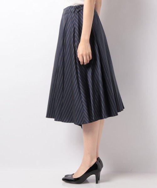 LAPINE BLEUE(ラピーヌ ブルー)/【セットアップ対応】キュプラツィル先染ストライプスカート/239514_img01