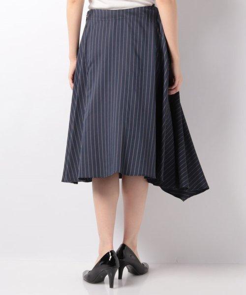 LAPINE BLEUE(ラピーヌ ブルー)/【セットアップ対応】キュプラツィル先染ストライプスカート/239514_img02
