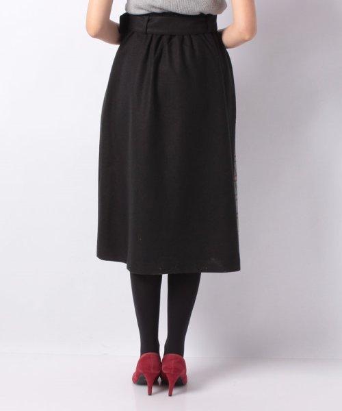 MIIA(ミーア)/ベルト付きプリーツ切換えスカート/34844416_img02