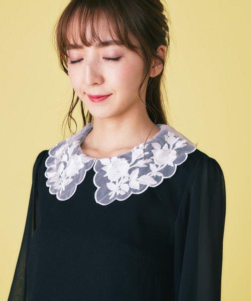 MIIA(ミーア)/フラワー刺繍カラーサックワンピース/32910111_img05