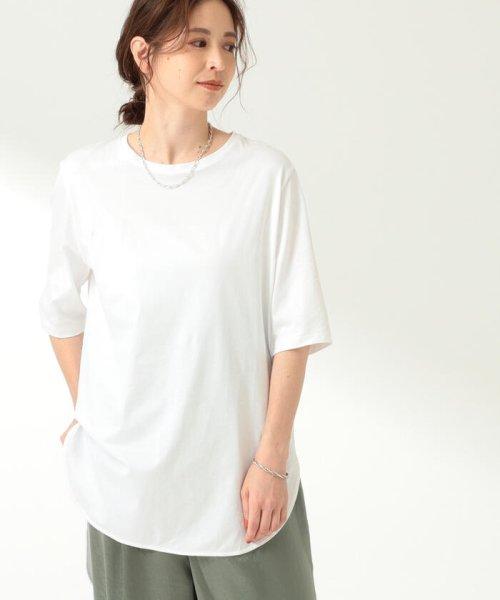 Demi-Luxe BEAMS(デミルクスビームス)/ATON / スビン ラウンドヘム Tシャツ/64040198967_img01