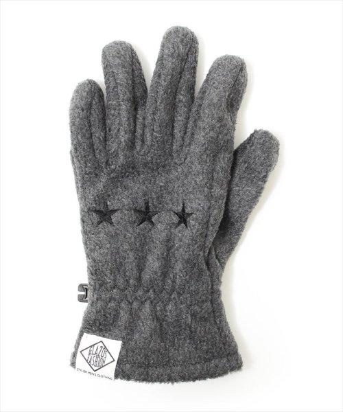 ACCENT by GLAZOS(アクセント バイ グラソス)/スター刺繍フリース手袋/ga8070_img01