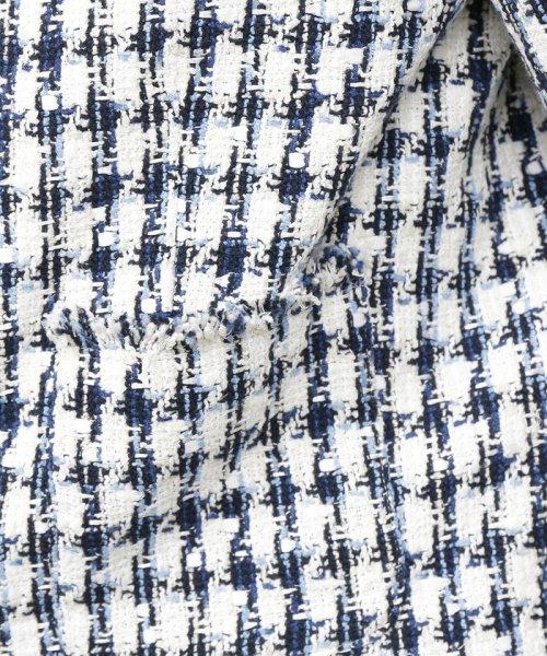 ROPE'(ロペ)/【ドラマ着用】【セットアップ対応】チェックツイードフリンジジャケット/GGV29100_img13