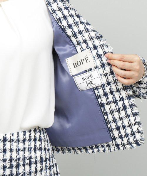 ROPE'(ロペ)/【ドラマ着用】【セットアップ対応】チェックツイードフリンジジャケット/GGV29100_img14