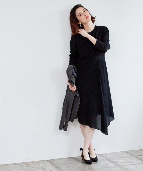 ROPE' mademoiselle(ロペ マドモアゼル)/シャーリングタックアシメワンピース/GWE49010_img12