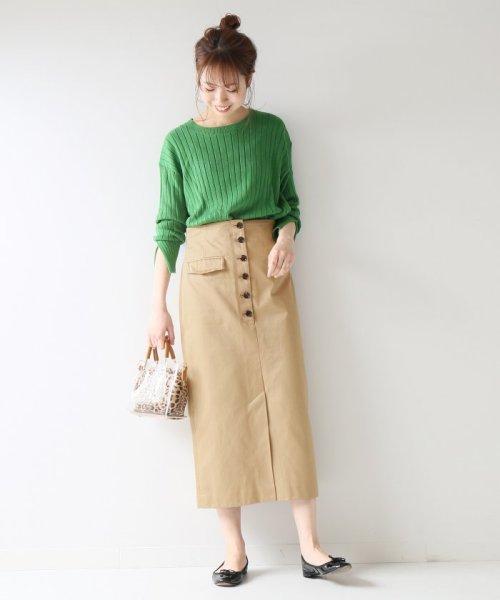 Spick & Span(スピック&スパン)/フロントボタンタイトスカート◆/19060200501010_img03