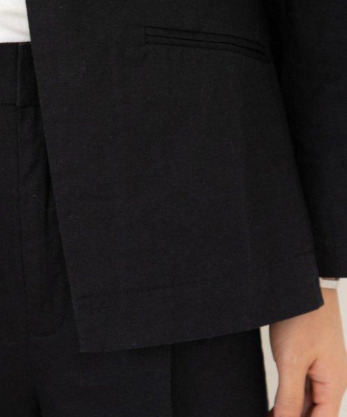 ViS(ビス)/【一部店舗限定】【セットアップ対応】ストレッチリネンVネックジャケット/BVV19000_img05