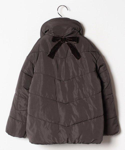 petit main(プティマイン)/ベロア調リボンつき裏起毛中わたジャケット/9684324_img03
