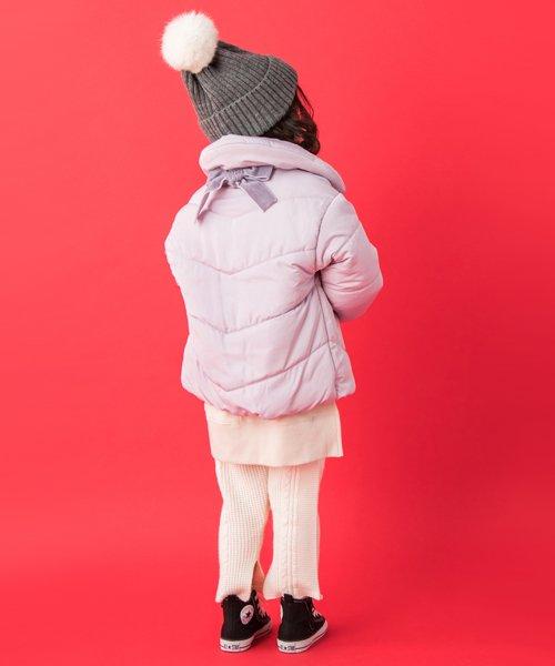 petit main(プティマイン)/ベロア調リボンつき裏起毛中わたジャケット/9684324_img01
