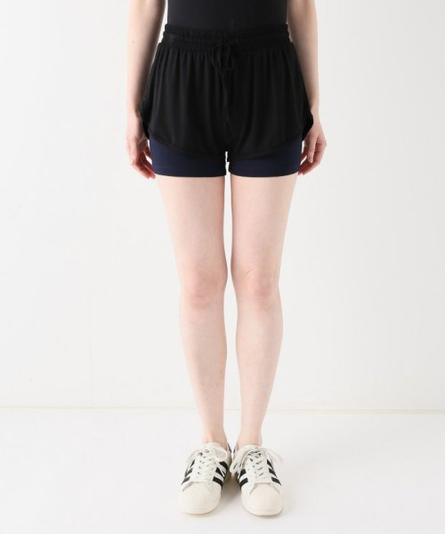 journal standard  L'essage (ジャーナルスタンダード レサージュ)/【ABOUT】 WOMAN DOUBLE LAYER SHORTS/18070380005110_img01