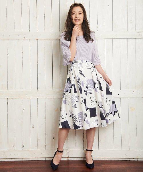 Noela(ノエラ)/オリジナル幾何柄スカート /5922015_img01