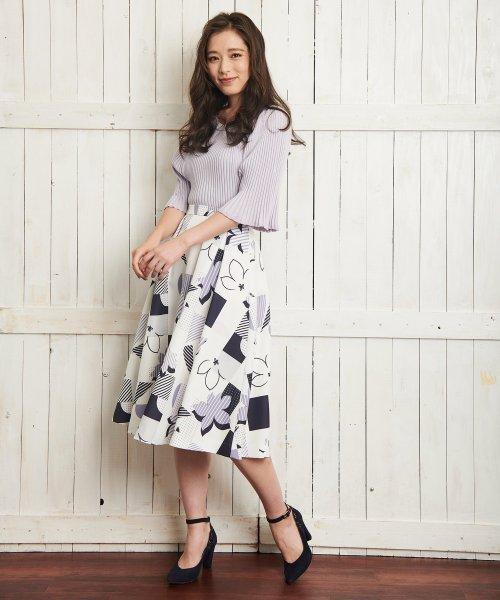 Noela(ノエラ)/オリジナル幾何柄スカート /5922015_img02