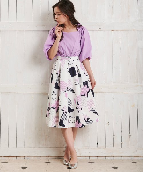 Noela(ノエラ)/オリジナル幾何柄スカート /5922015_img04