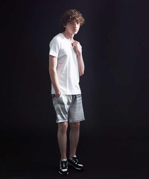 5351POURLESHOMMES(5351POURLESHOMMES)/シルケットコットンVネックTシャツ/02380041002_img04