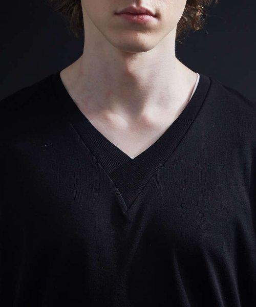 5351POURLESHOMMES(5351POURLESHOMMES)/シルケットコットンVネックTシャツ/02380041002_img08
