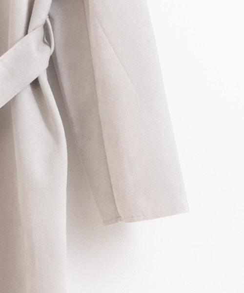 le.coeur blanc(ルクールブラン)/エコスエードノーカラーコート/3095079200_img03