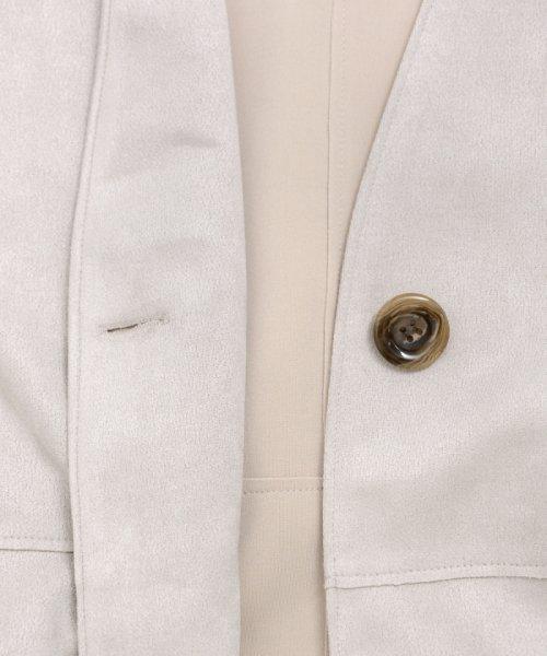 le.coeur blanc(ルクールブラン)/エコスエードノーカラーコート/3095079200_img04