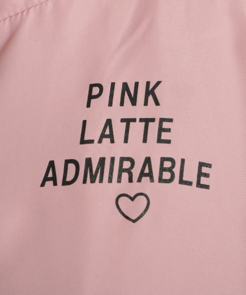 PINK-latte(ピンク ラテ)/ナイロン切替 ブルゾン/20190131946001_img08