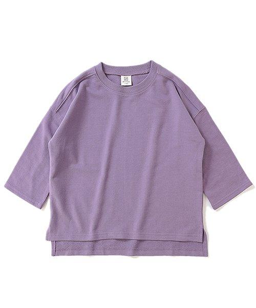 devirock(デビロック)/スリット入りミニ裏毛7分袖Tシャツ/DT0005_img25