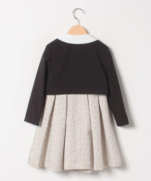 petit main(プティマイン)/ジャガードリボンワンピース+衿つきジャケットセット/9691603_img01