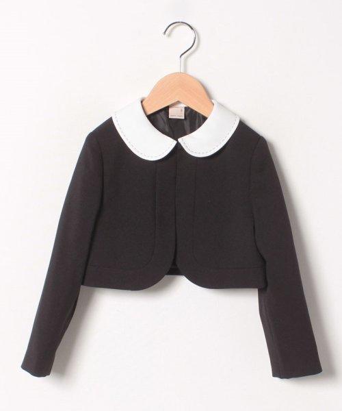 petit main(プティマイン)/ジャガードリボンワンピース+衿つきジャケットセット/9691603_img02