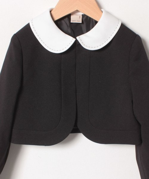 petit main(プティマイン)/ジャガードリボンワンピース+衿つきジャケットセット/9691603_img03