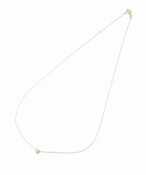 DECOUVERTE(デクーヴェルト)/18KYG 0.1ct ダイヤモンド ネックレス H&C/18110895010530_img01