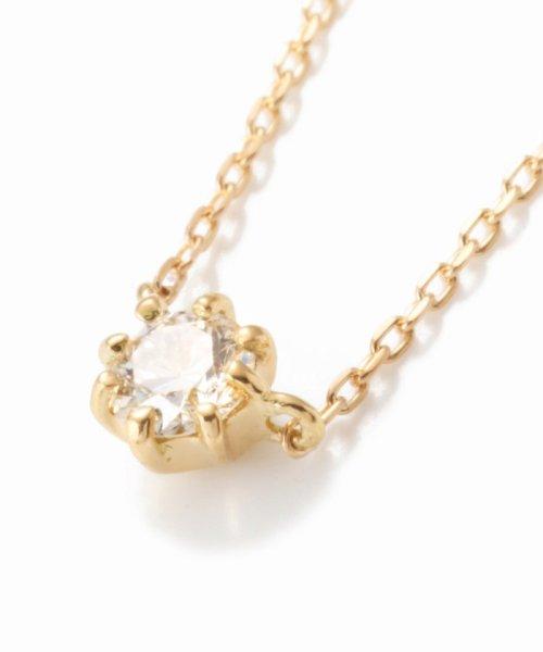 DECOUVERTE(デクーヴェルト)/18KYG 0.1ct ダイヤモンド ネックレス H&C/18110895010530_img04