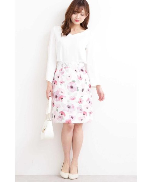 PROPORTION BODY DRESSING(プロポーション ボディドレッシング)/ブライトトーンフラワータイトスカート/1219120206_img02
