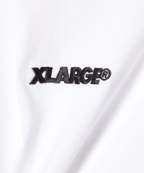 bc6cdcddf3bcc XLARGE KIDS(エクストララージ キッズ) ロゴシシュウナガソデTシャツ