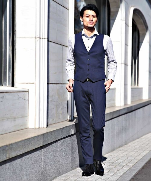 MICHEL KLEIN HOMME(ミッシェルクランオム)/パンツ(バランサーキュラーヘリンボン)/MNLDG25210_img01
