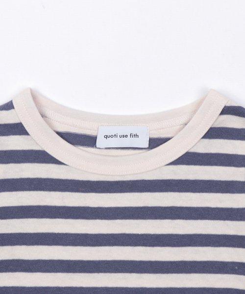 quoti use fith(クオティ ユース フィス)/16/- ボーダーテンジク 長袖 Tシャツ/9192452_img02