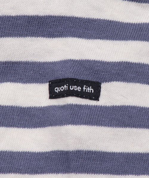 quoti use fith(クオティ ユース フィス)/16/- ボーダーテンジク 長袖 Tシャツ/9192452_img04