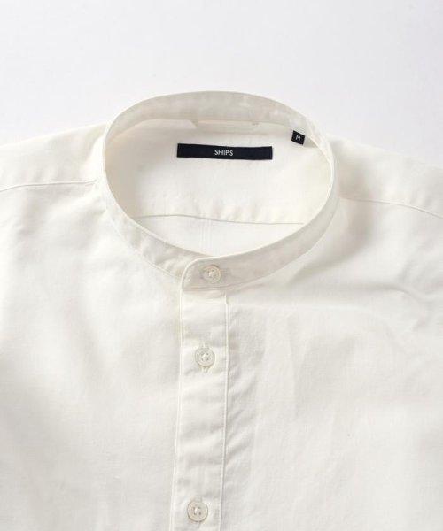SHIPS MEN(シップス メン)/SC: コットン/リネン イージーケア加工 バンドカラー シャツ/111100308_img04
