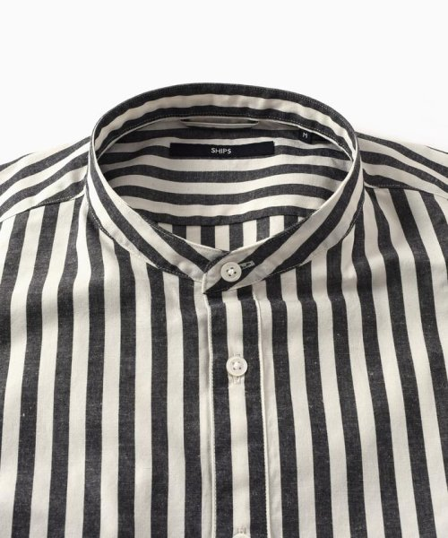 SHIPS MEN(シップス メン)/SC: コットン/リネン イージーケア加工 バンドカラー シャツ/111100308_img08