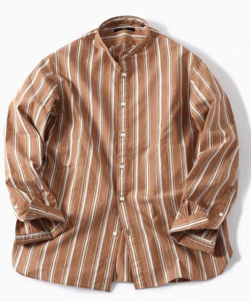 SHIPS MEN(シップス メン)/SC: コットン/リネン イージーケア加工 バンドカラー シャツ/111100308_img11