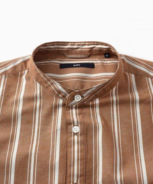 SHIPS MEN(シップス メン)/SC: コットン/リネン イージーケア加工 バンドカラー シャツ/111100308_img12