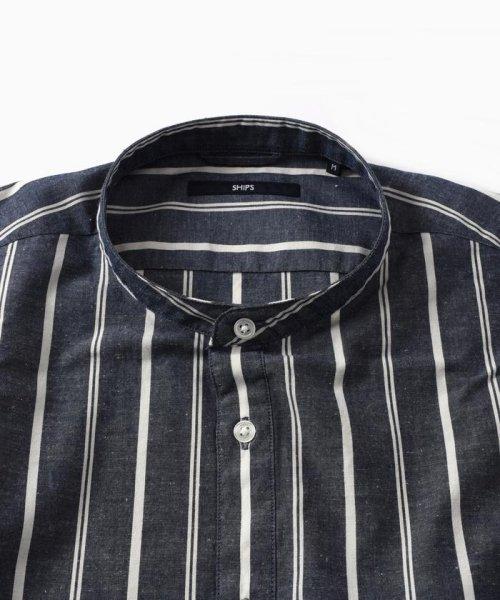 SHIPS MEN(シップス メン)/SC: コットン/リネン イージーケア加工 バンドカラー シャツ/111100308_img14