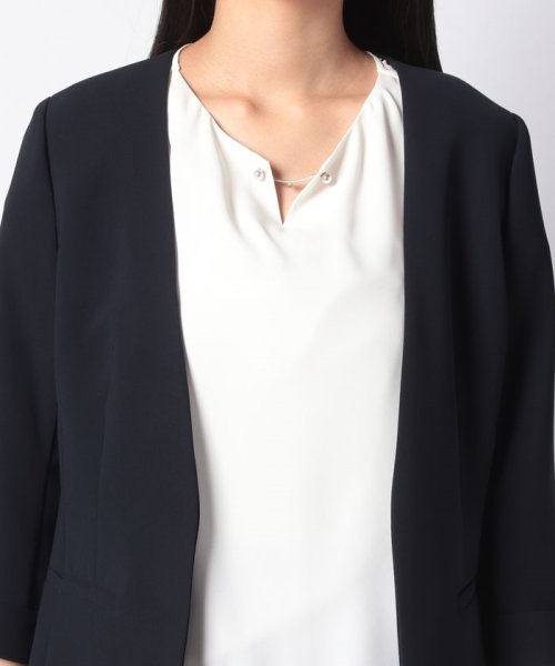 Apuweiser-riche(アプワイザー リッシェ)/【美人百花 4月号掲載】洗えるジャケット・ティアード袖ブラウスSET/29143930_img13