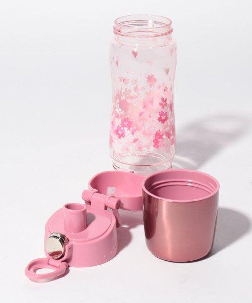 Afternoon Tea LIVING(アフタヌーンティー・リビング)/桜柄カップ付きクリアボトル 550ml/FS3419200222_img03
