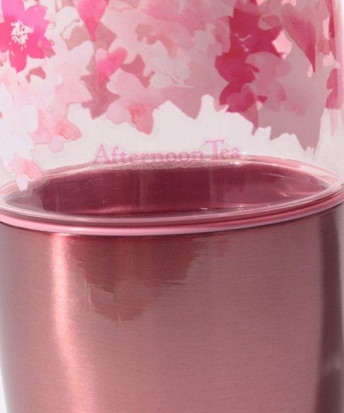Afternoon Tea LIVING(アフタヌーンティー・リビング)/桜柄カップ付きクリアボトル 550ml/FS3419200222_img04