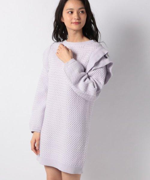 MIIA(ミーア)/バスケット編みフリルニットワンピース/34912731_img12