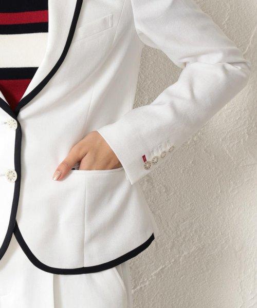 GUILD PRIME(ギルドプライム ウィメンズ)/【TVドラマ着用】【LOVELESS】WOMEN リネンライクホワイトパイピングジャケット/62D30101--_img09