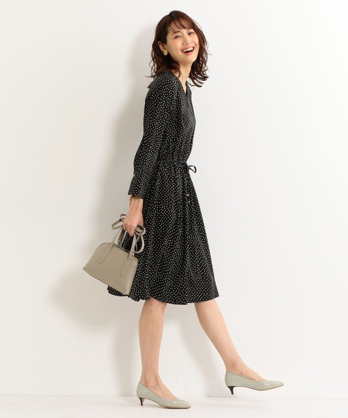 THE STATION STORE UNITED ARROWS LTD. ツブドット ギャザーワンピース