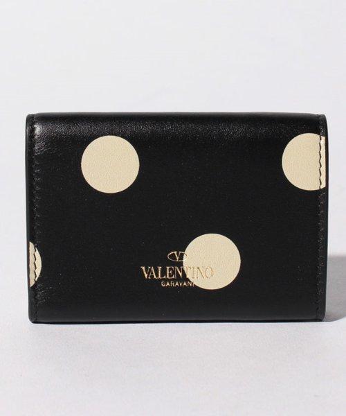 Valentino Garavani(ヴァレンティノ ガラヴァーニ)/【VALENTINO GARAVANI】3つ折りミニ財布/ロックスタッズ【BLACK LIGHT IVORY】/QW1P0Q47QQDL60_img02
