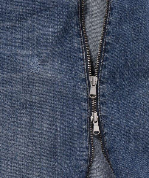 SISLEY(シスレー(レディス))/裾フリンジアシンメトリーデニムスカート/19P4IQ350567_img12