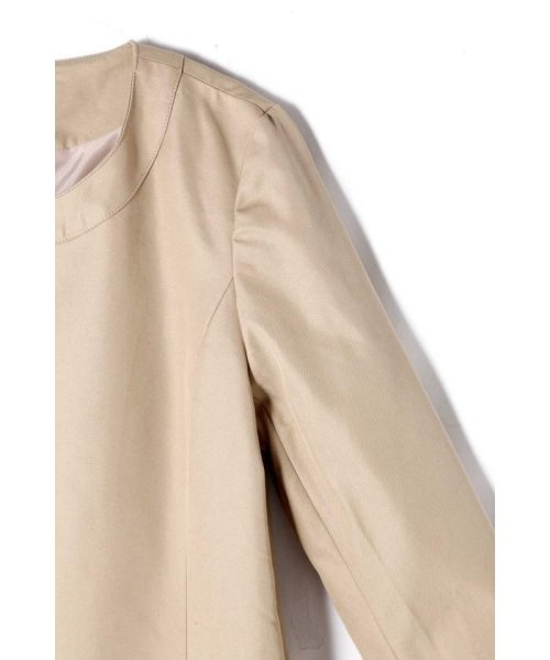 PROPORTION BODY DRESSING(プロポーション ボディドレッシング)/パールビジューノーカラートレンチコート/1219152101_img03