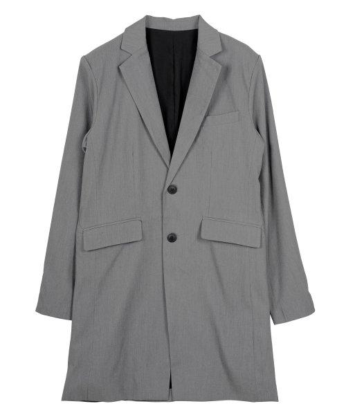 JIGGYS SHOP(ジギーズショップ)/TRストレッチチェスターコート / チェスターコート メンズ スプリングコート コート ロング スーツ地/201109_img08