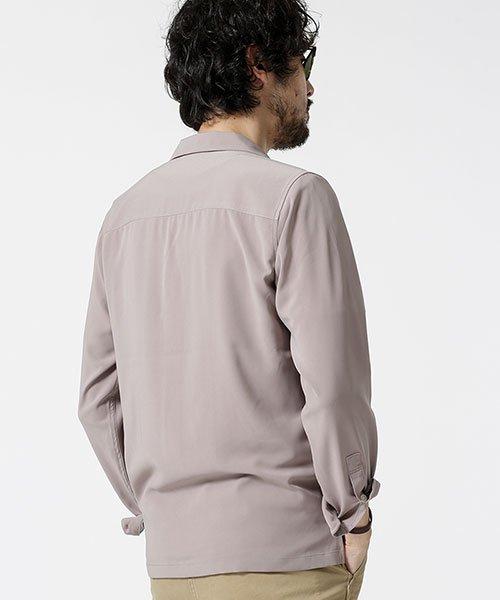 nano・universe(ナノ・ユニバース)/ストレッチオープンカラーシャツ 長袖/6749120020_img01